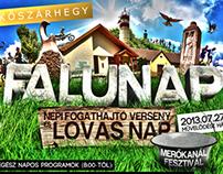 Kőszárhegy Falunap 2013 Flyer Design