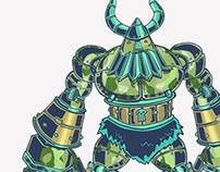 Robo-Viking Character Design
