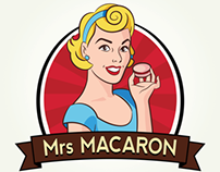 Mrs. Macaron Logo design
