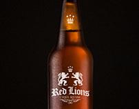 Branding para cerveza Red Lions
