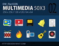 50 Flat Icons (Multimedia)