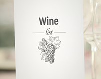 Richmond Nua Wellness-Spa Şarap Menüsü
