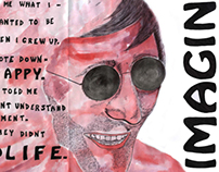 John Lennon Fanzine Cover (Front and Rear)