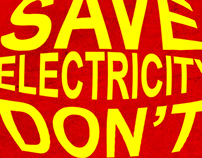 Save Electricity Poster Design