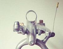 Upcycled bikebot /// Name: EmptyHead V.1