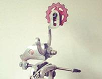 Upcycled bikebot /// Under Construction