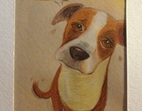 Colored pencil sketch for birthday card