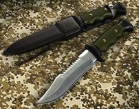 Faca Militar / Military Knife (3D)