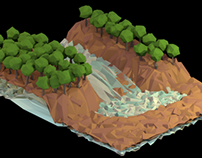Low-Poly Waterfall
