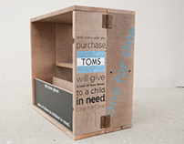 TOMS Giving Crate Display