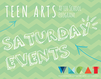 Teen Arts After School Program Saturday Events