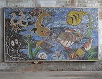Mid modern  XL Mosaic artwork