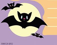 Cute Bat Stationary