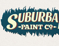 Suburban Paint Sign Mock-up