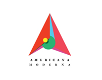 Logotype : AMERICANA MODERNA MAGAZINE