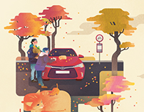 Camry in fall
