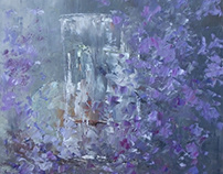 Glass vase and flowers