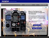 Olympus Microsite Design