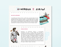 analógico e digital // layout e colagem