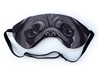 Black Pug Sleep Mask