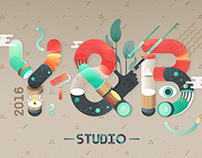 Design for the Theme of Y&B Studio