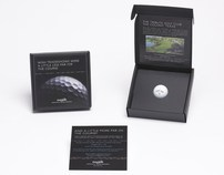 Golf Ball Event Invitation Mailer Box