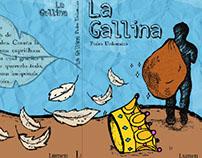 Portada y contraportada La Gallina, cuento chileno