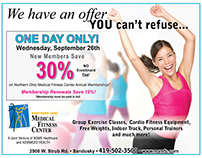 Fitness Center ads (Web and Print)