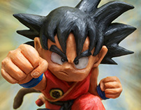 """Son Goku"" in plasticine."