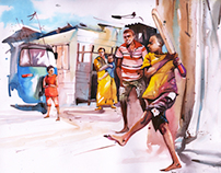 Watercolor Calendar 2013- Mumbai Cricket Association