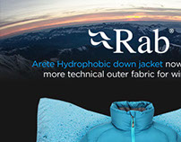 Rab Hydrophobic Down email banner