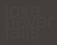 LOVE NEVER FALLS