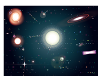 Stars with flares (AI)