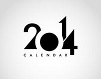 Calendar 2014 Design Template