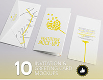 10 Invitation & Greeting Card Mockups