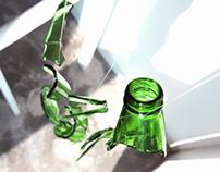 Glass Bottle Sculpture