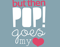 Pop! Goes my heart - Hugh Grant: Typography