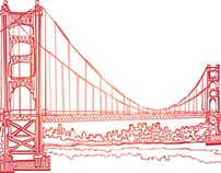 San Francisco one line Illustration!