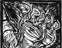 Lino engraving