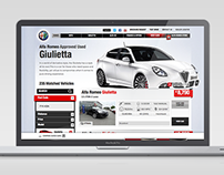 Alfa Romeo Used Vehicle Locator Website Development
