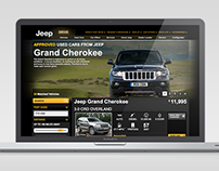 Jeep Used Vehicle Locator Website Development