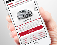 Kia Used Vehicle Locator Mobile Website Development