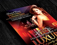 FREE Luxury Nights | Flyer + FB Cover