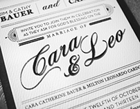 Cara and Leo's Wedding Invitation
