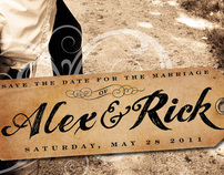 Save the Dates : Rick and Alex