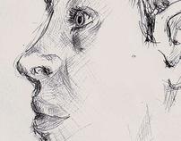Sketches, portraits