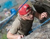 Rock climbing feature story