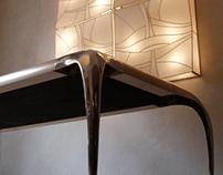 Private Studio Milano Ara Table - parchment leather top