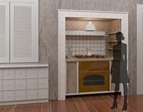 Abitazione privata, Render Cucina