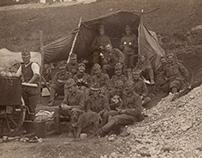 Vintage Photo Restoration - WWI-era military postcard